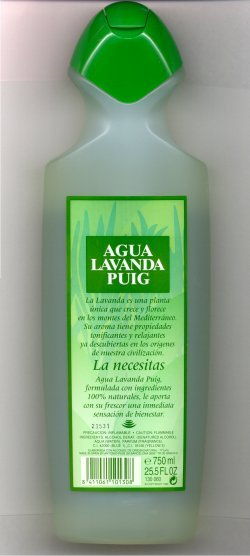 Agua Lavanda (Large Plastic Bottle)/Puig, Spain