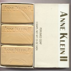 Anne Klein II Soap Set of 3 Hard Mill Savon Soaps (White Box)/Parlux