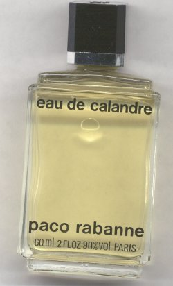 Eau de Calandre Splash Unboxed Vintage 60ml/Paco Rabanne