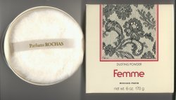 Femme Perfumed Dusting Powder/Rochas, Paris
