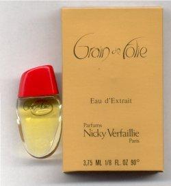Grain de Folie Eau d'Extrait Miniature 3.75ml Clear Bottle/Nicky Verfaillie, Paris