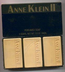 Anne Klein II Soap Set of 3 Hard Mill Savon Soaps (Black Box)/Parlux