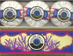Lavender Royale Perfumed Soap Set/Roger & Gallet