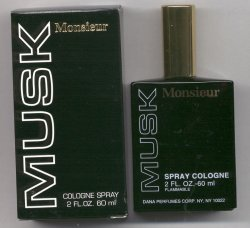 Monsieur Musk Cologne Spray/Dana, Formerly Houbigant