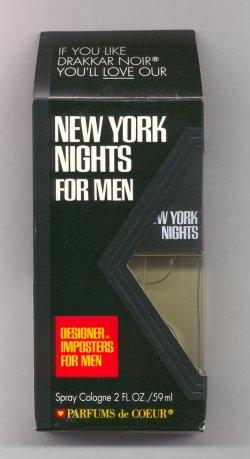 New York Nights for Men Cologne Spray 60ml Designer Imposter/Parfum de Coeur