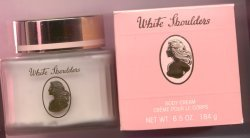 White Shoulders Perfumed Body Cream Glass Jar/White Shoulders